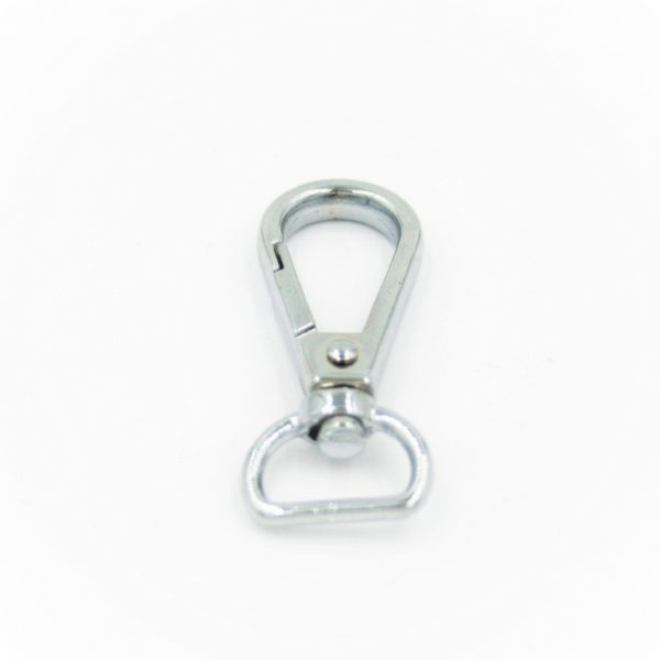 Chrome clasp with swivel attachment